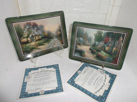 Thomas Kinkade Sweetheart Cottage 1 Music Box Free Ship USA Bradford Exchange