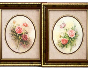 Listing 360 is a Set of 2 Floral Prints by Wyona Newton signed