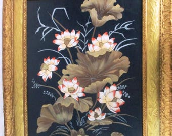 Listing 293 is an Original Still Life Painting signed in a ornate gold tone solid wood frame