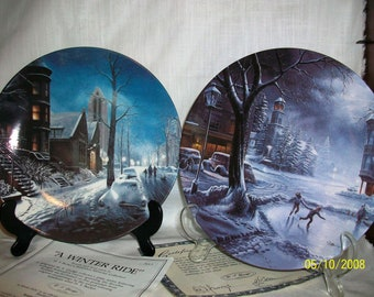 W. J. George Limited Edition Plates from the Hometown Memories Collection