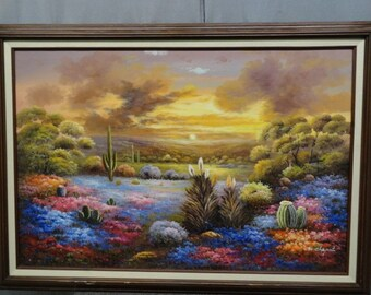 M. Chapot original oil painting on canvas