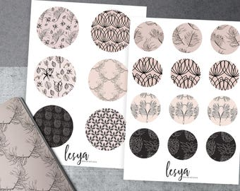 Circles - Wirld Herbs and Nude Colors