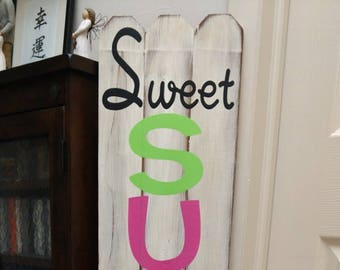 Sweet Summer Time Fence Sign