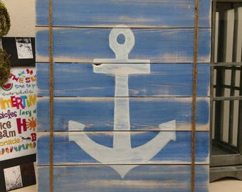 Wooden Anchor Sign