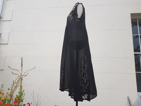 As Found Original 20s 30s black evening dress with