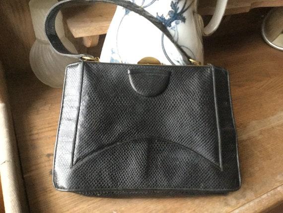 Vintage black handbag 30s 40s