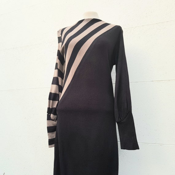 70s 80s vintage new wave dress asymmetric New Roma