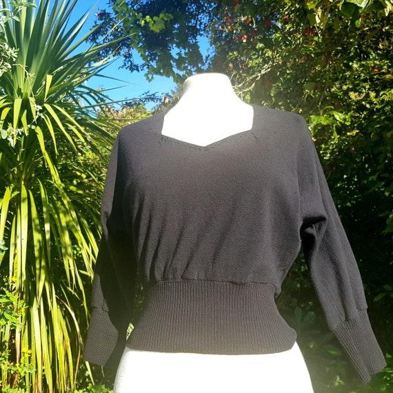 50s bad girl sweater fine lambswool uk 8-10