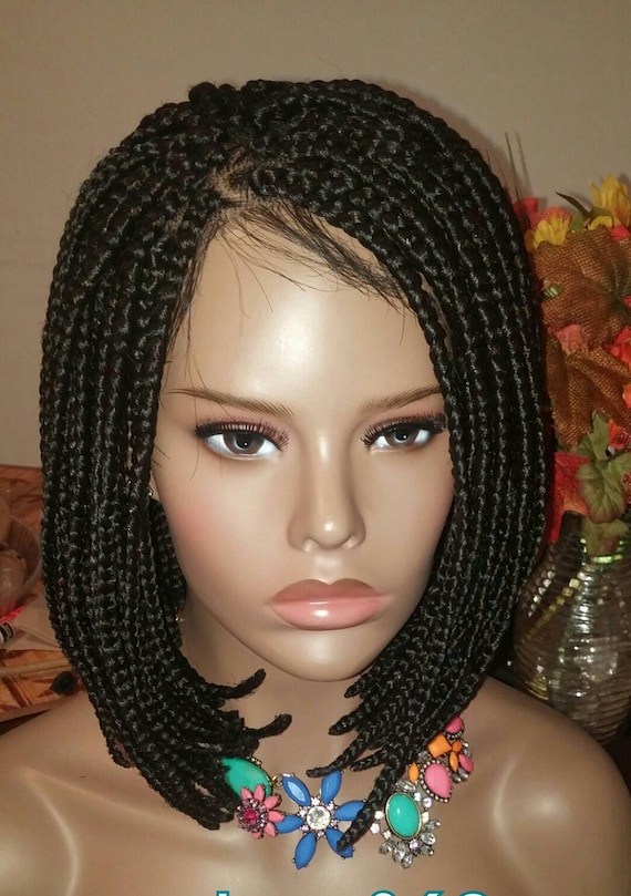 Lace Braided Wig Full Human Hair Closure 4x4 Can Be Done