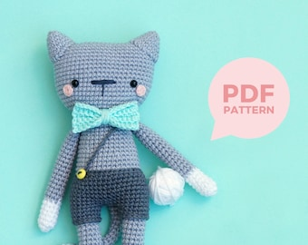 Francisco the kitty boy - amigurumi crochet pattern by Maria Handmade Design