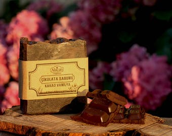 Chocolate Soap enriched with Vanilla