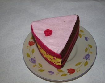 Handmade felt cake slice - soft toy - decoration