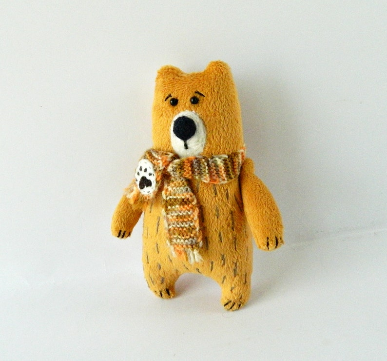 Ready to ship LGBT plush brown teddy toy In knitted scarf Bear claw paw LGBT Pride small bear gay stuffed animal.Gift for loved one