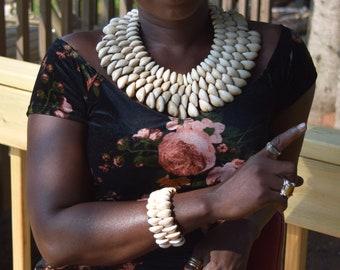 African Statement Necklace & Bracelet