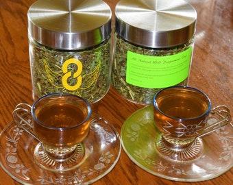 Canada Mint Tea America Wild Peppermint Leaves Tea Wild Mint Tea Herb Tea, 8Solution Wild Tea.