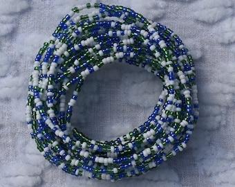 African Style Beaded Bracelet. Six in Set Lady's Bracelet.