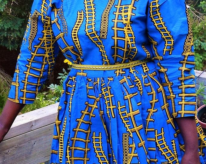 Classic Women's Dress African Print.