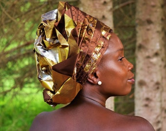 Traditional African Women's Head Wraps Beautiful Women's Head Wraps.