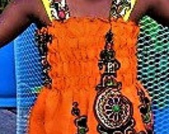 Girl Dress Dashiki Girl Dress, Young Children's Dresses.