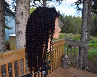 360 Full Lace Wig Queen Of Sheba Style, Indian Kinky Curly Full Lace Wig, Deep curly Human Hair Wig.