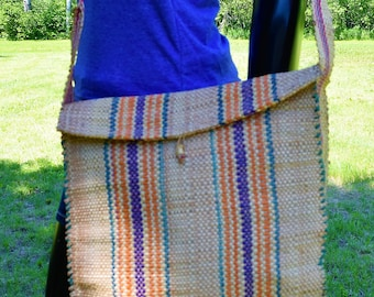 Shoulder Craft Hand Bags Handmade Bamboo School Bags & Hunting Knife Bags.