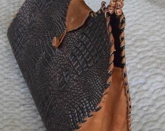 Handmade Alligator Women's Handle Bag.