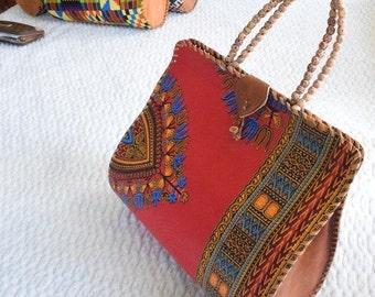 Hand Bag, Ankara Print Bag, African Print Bag,