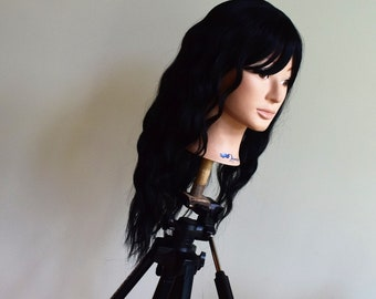 Mid Wavy Natural Wavy Premium Synthetic wig.