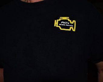 Phil's Mobile Service T-Shirt Cars Lover T-Shirt, Mechanic & Activity T-Shirt.