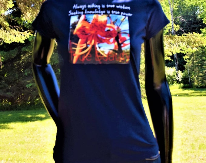 Nature Lovers Quality T-Shirts, True Beauty Tee, Unique Melanin Popping Tee & Natural Beauty Tee.