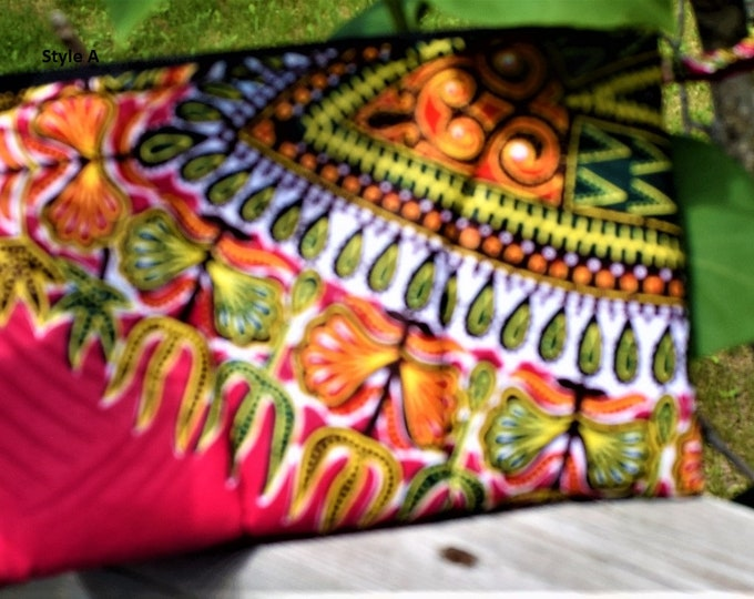 Make Up Bag, Handmade quilted clutch purse