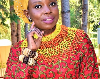 African Style Necklace Tribal Necklace