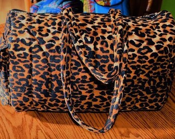 African Leopard Print Travel Bags, With Matching Makeup Bag