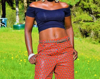 Dashiki Print Short Trouser, Women's Shorts.