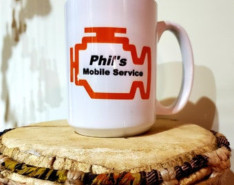 8Solution & Phil' Mobile Service Coffee Caps, Ceramic Mug Coffee Cap.
