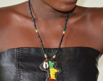 African pendant necklace