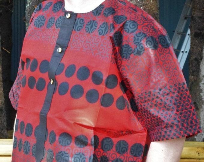 8Solution Red Black Ankara Print Men's Shirt & Rich Brown Men's Shirts.