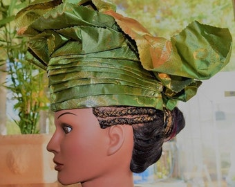 Traditional African Women's Head Wraps, Nigerian Women's Head Wraps.