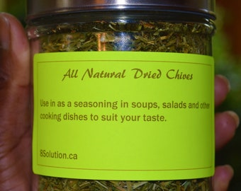 8Solution Herbs And Spices, All Natural Dried Chives Seasoning 30 Grams