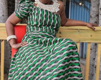 African Women's Dress, Ankara Print Dress, African Print Dress
