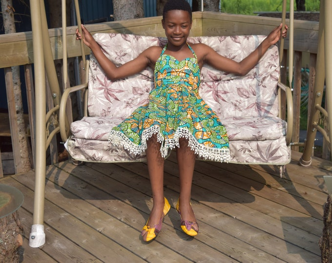 African Print Dress, Ankara Print Dress, Girl's Dress, Children's Dress
