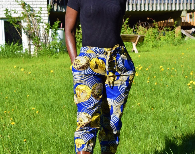 Unisex Trousers, Dashiki Print Pants, Women's & Men Style Pants