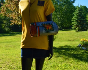 African Print Leather Wrap Shoulder Bags, Women's Shoulder Bags.
