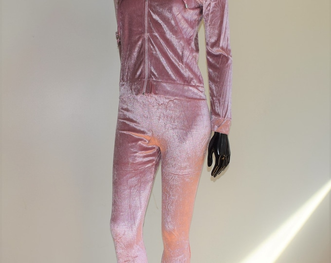 Comfy Pink Two Piece Velvet Hood Long sleeve With Pants Fitness & Sport