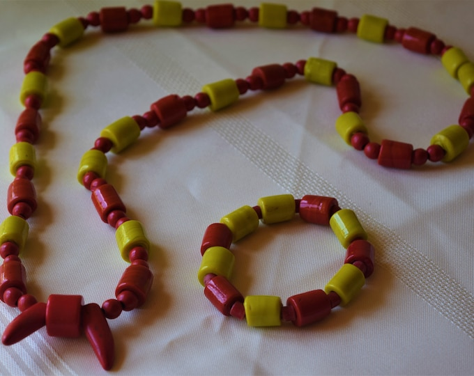 Traditional Nigerian Men's Necklace and matching bracelet.