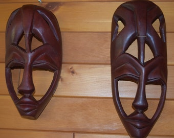 Hand Carved Cultural Masks.