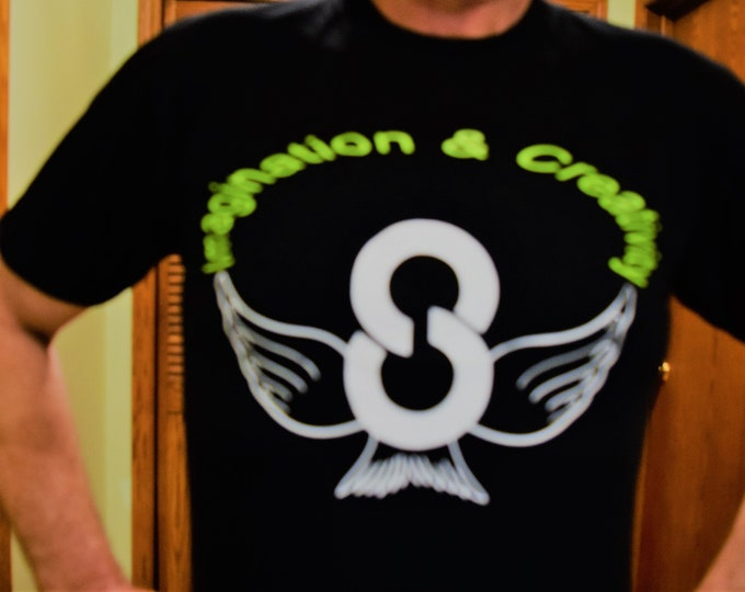 Imagination & Creativity T-Shirts, Solution Tees Infinity With Wings T-Shirts.