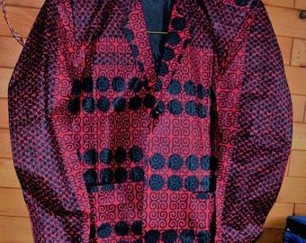 Man Dress Coat, Men's Blazer Men Jacket, Classic African Print.