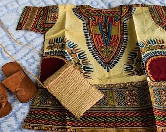 Dashiki Children's Shirts Uinsex Children's Cloths, African Children Shirts.