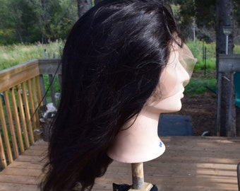 Indian Virgin Straight 360 Full Lace Wig, The Queen Of Sheba Style Human Hair